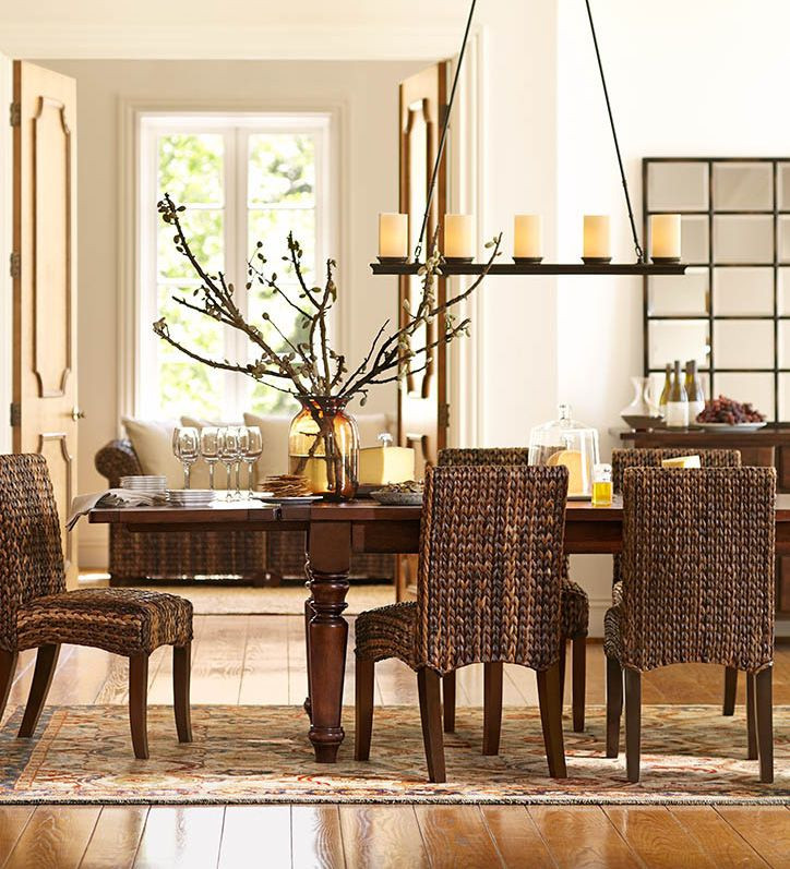 Best ideas about Pottery Barn Dining Room . Save or Pin Seagrass chairs are perfect for this dining room Now.