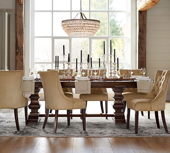 Best ideas about Pottery Barn Dining Room . Save or Pin Banks Extending Dining Table Now.