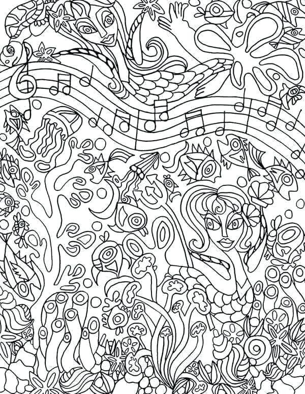 Best ideas about Printable Coloring Pages Music . Save or Pin music coloring pages Coloring Page Now.