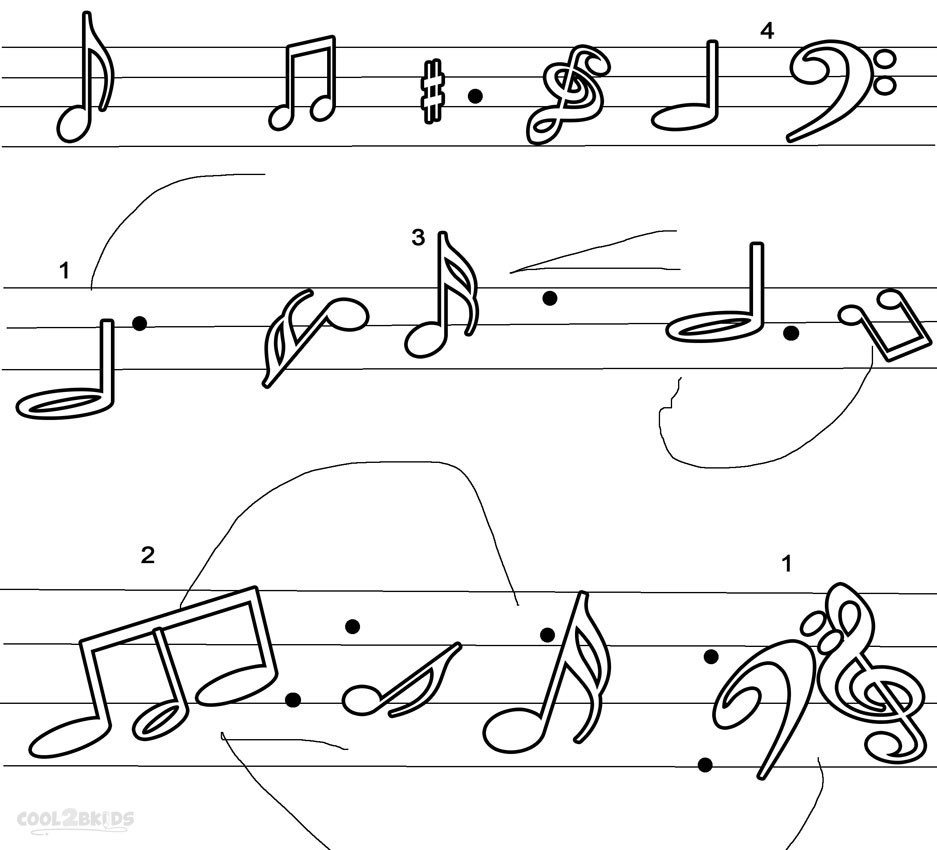 Best ideas about Printable Coloring Pages Music . Save or Pin Printable Music Note Coloring Pages For Kids Now.