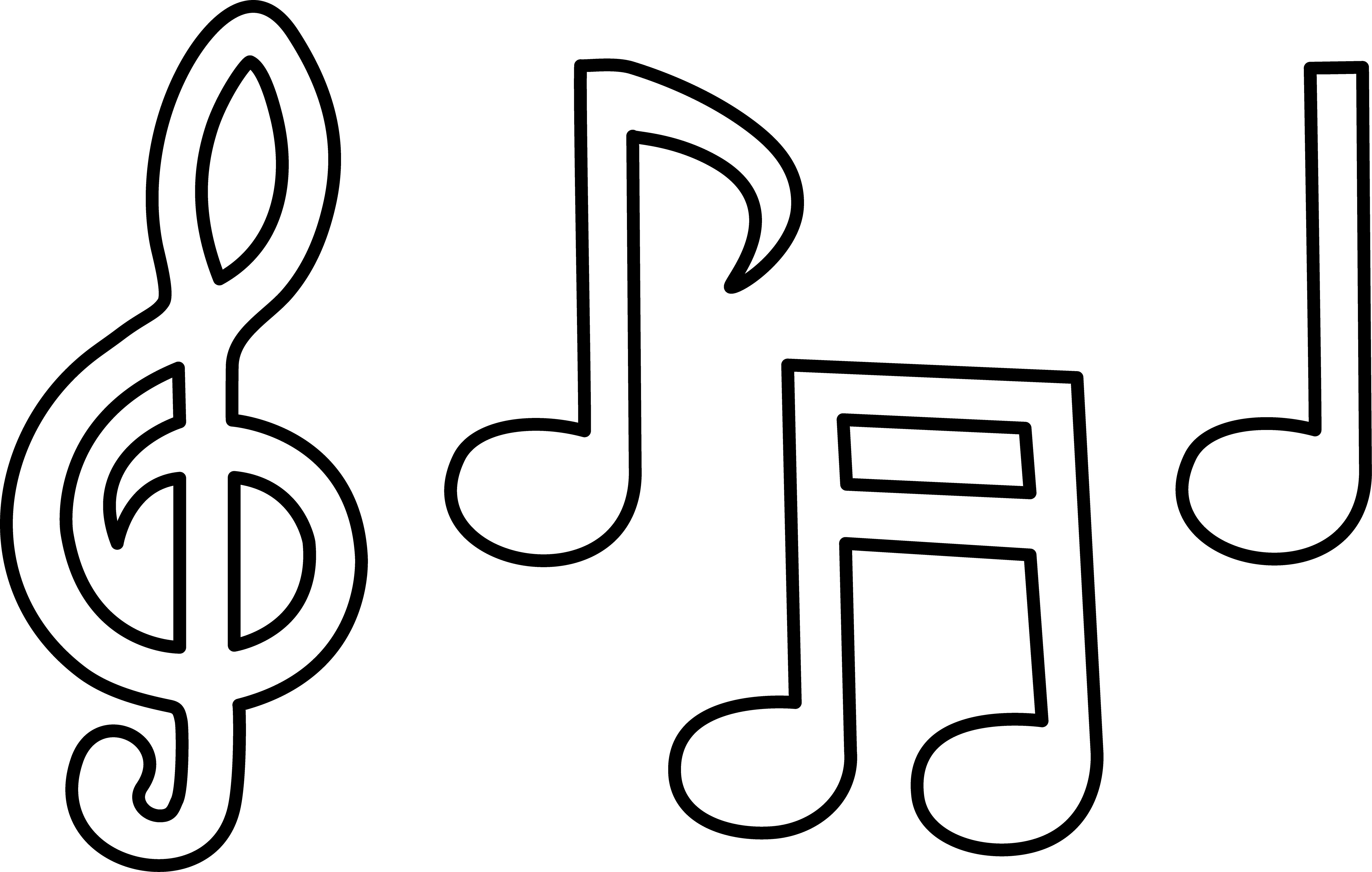 Best ideas about Printable Coloring Pages Music . Save or Pin Free Printable Music Note Coloring Pages For Kids Now.