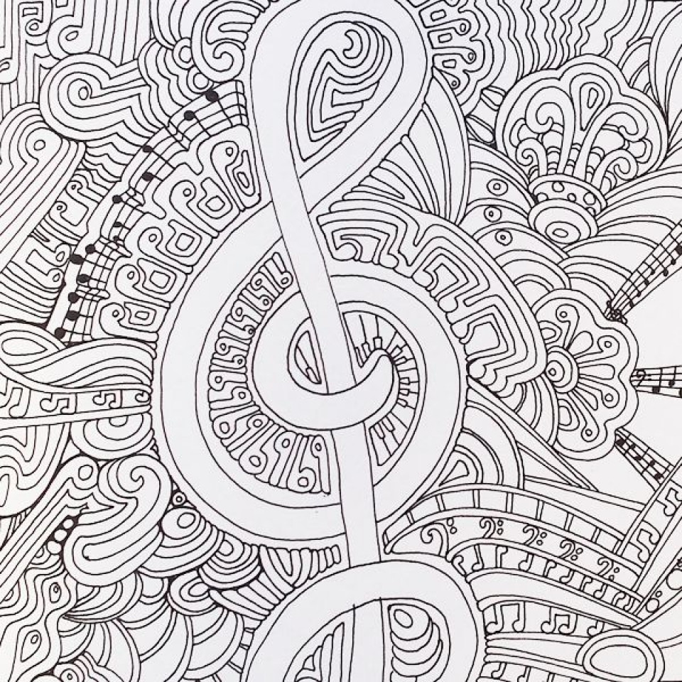 Best ideas about Printable Coloring Pages Music . Save or Pin Get This Free Music Coloring Pages for Toddlers Now.