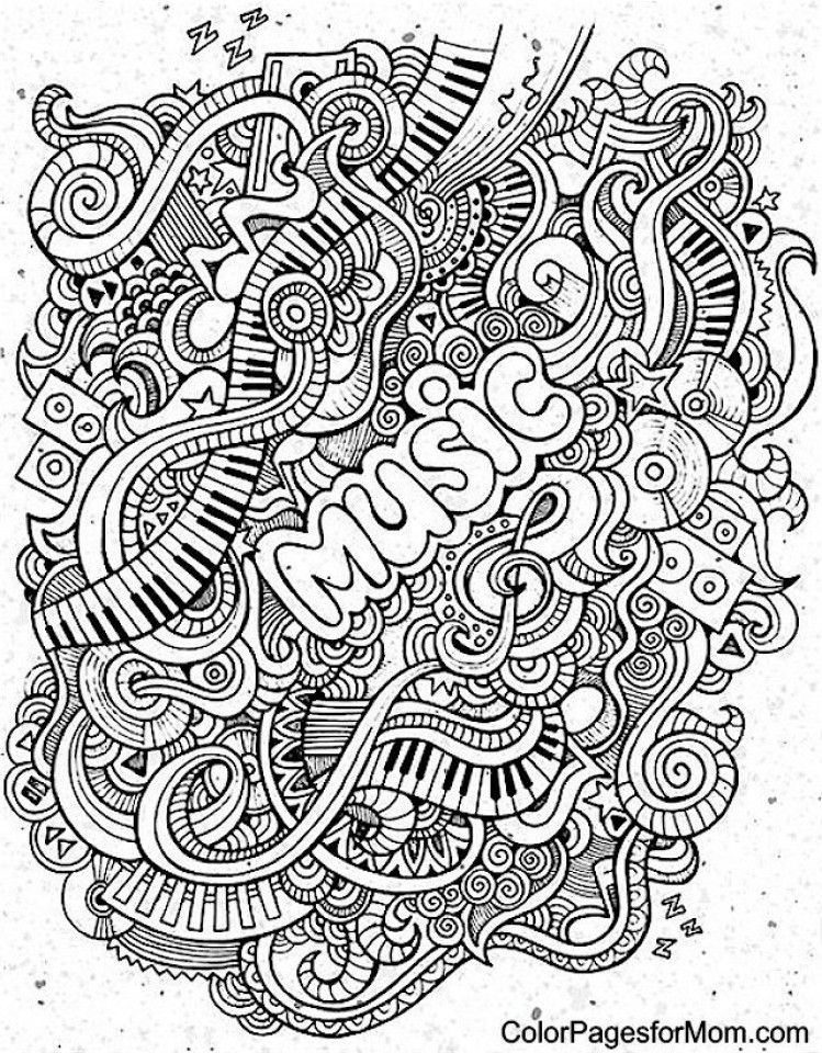 Best ideas about Printable Coloring Pages Music . Save or Pin Get This Music Coloring Pages to Print line Now.