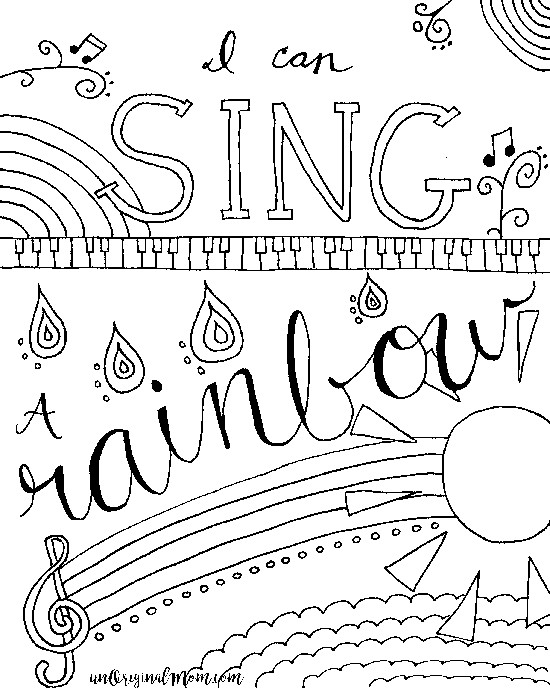 Best ideas about Printable Coloring Pages Music . Save or Pin Relax & Color Free Printable Musical Coloring Page Now.