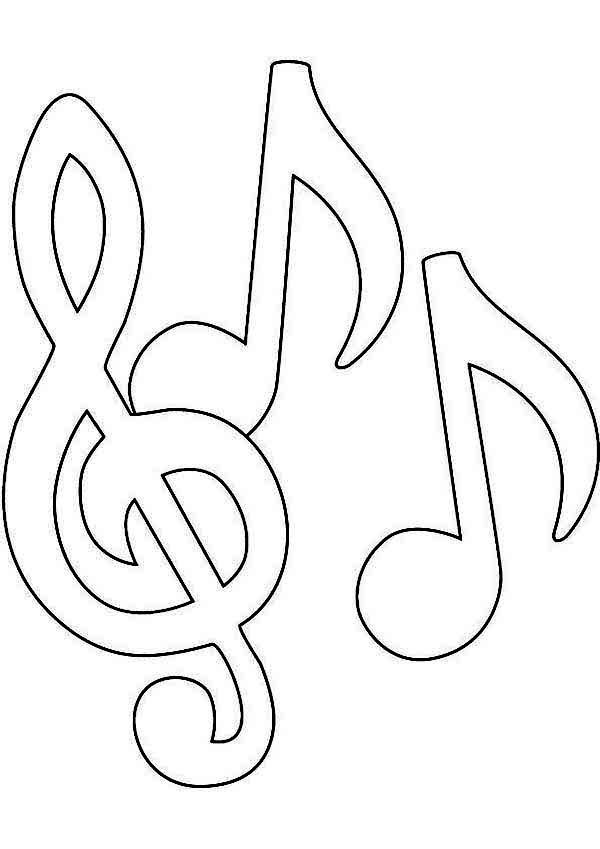 Best ideas about Printable Coloring Pages Music . Save or Pin Music Notes Coloring Pages Now.