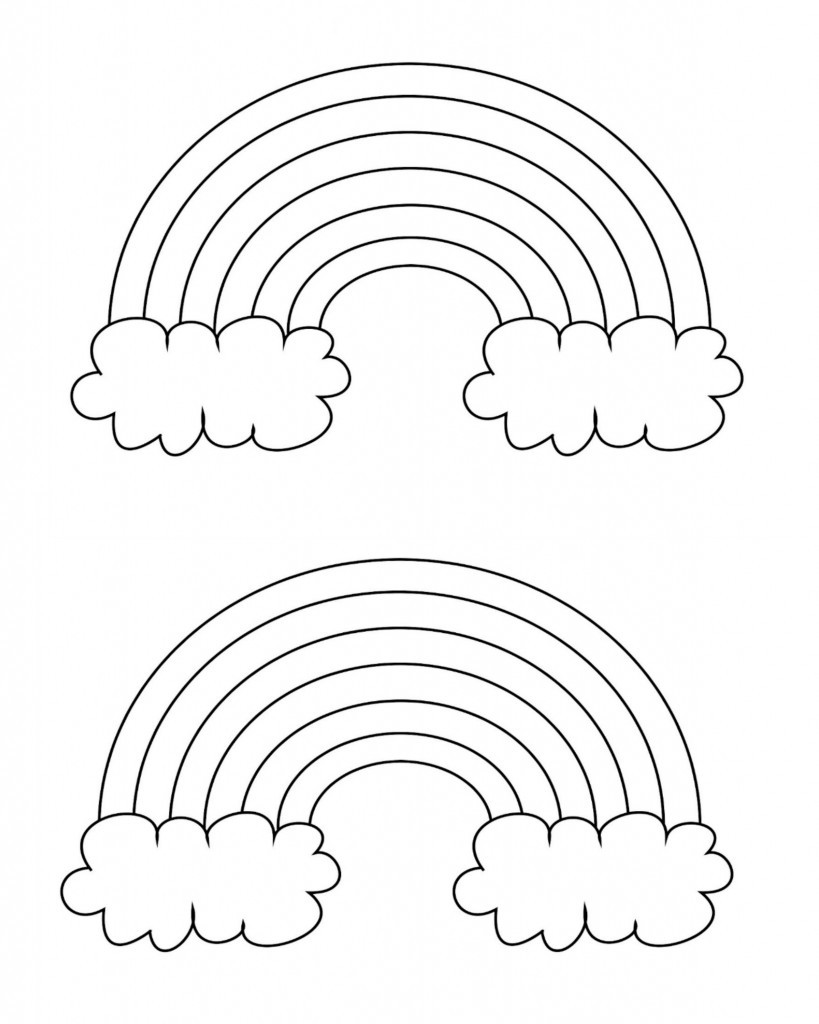 Best ideas about Printable Coloring Pages Rainbow . Save or Pin Free Printable Rainbow Templates Small Medium & Now.