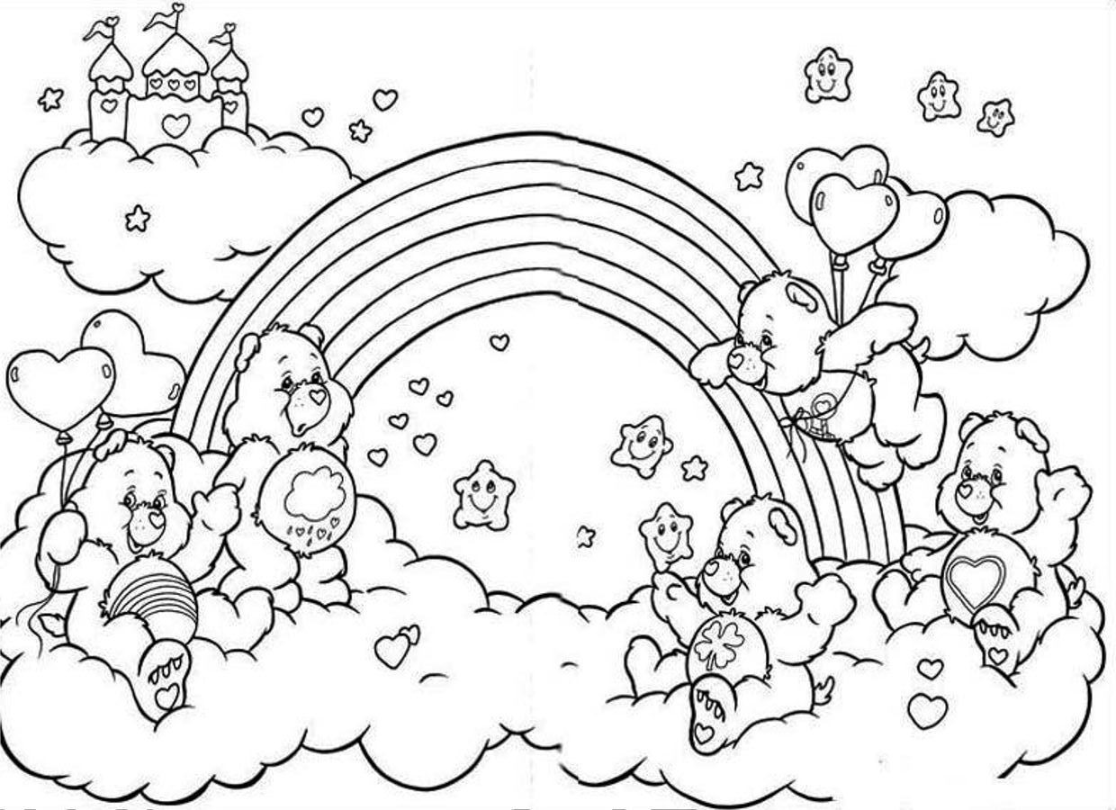 Best ideas about Printable Coloring Pages Rainbow . Save or Pin Rainbow Coloring Pages Now.