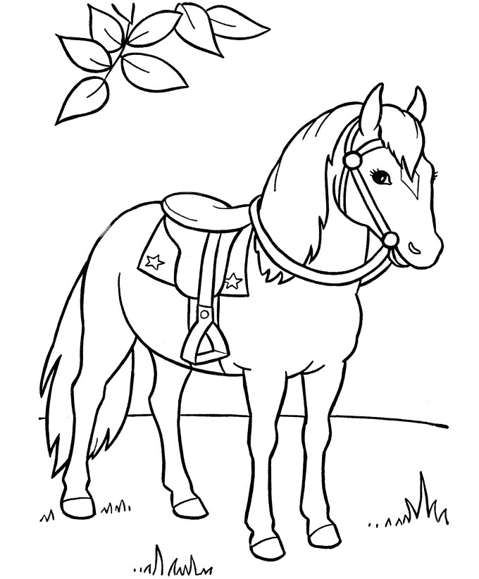 Best ideas about Printable Coloring Sheets Horses Free . Save or Pin Horse Coloring Pages Preschool and Kindergarten Now.