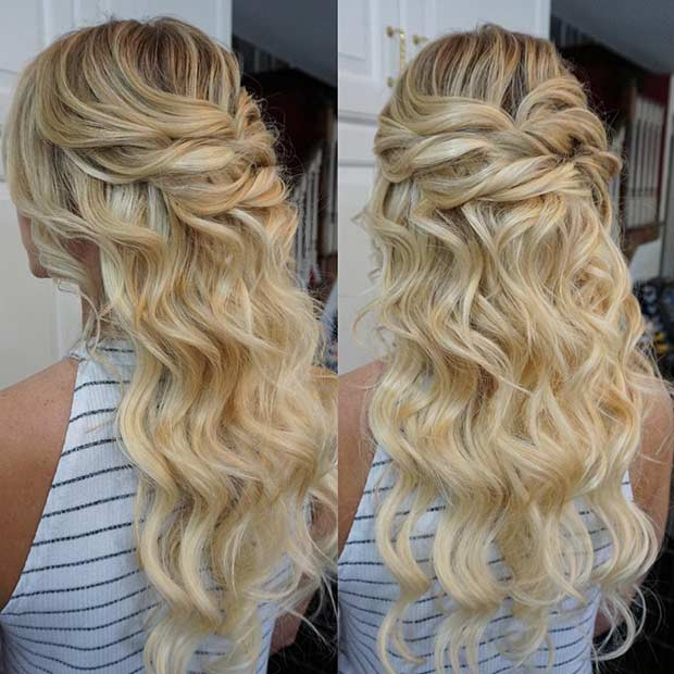 Best ideas about Prom Hairstyles Half Updo . Save or Pin 31 Half Up Half Down Prom Hairstyles Page 2 of 3 Now.