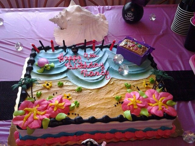 Best ideas about Publix Birthday Cake Designs . Save or Pin Beach Theme Cake for Girls Pirate Party publix barbie Now.