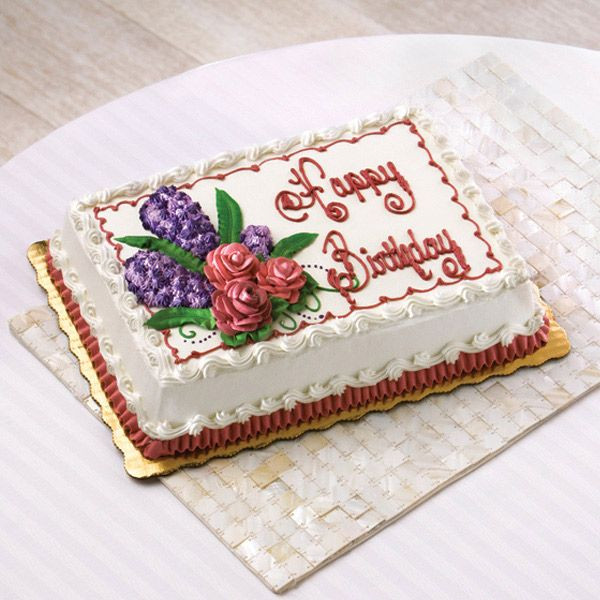 Best ideas about Publix Birthday Cake Designs . Save or Pin Birthday Cake Floral Design Roses and Hyacinth via Publix Now.
