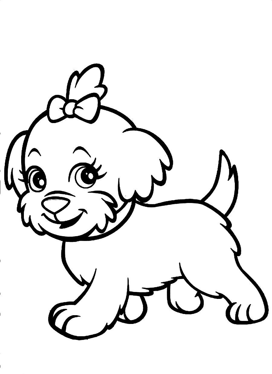 Best ideas about Puppy Coloring Sheets For Girls . Save or Pin dog coloring pages for girls Now.