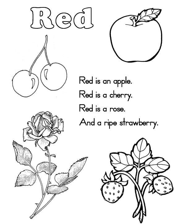 Best ideas about Red Coloring Pages For Kids . Save or Pin 10 Best of Red Color Worksheets Printable Color Now.