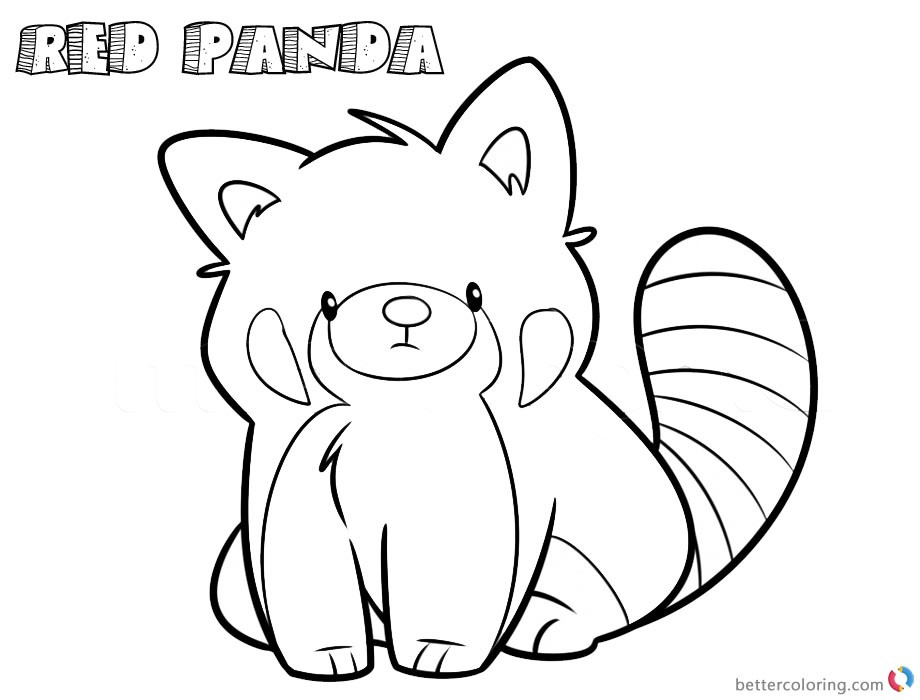 Best ideas about Red Coloring Pages For Kids . Save or Pin Red Panda Coloring Pages Cartoon Line Art Drawing Free Now.