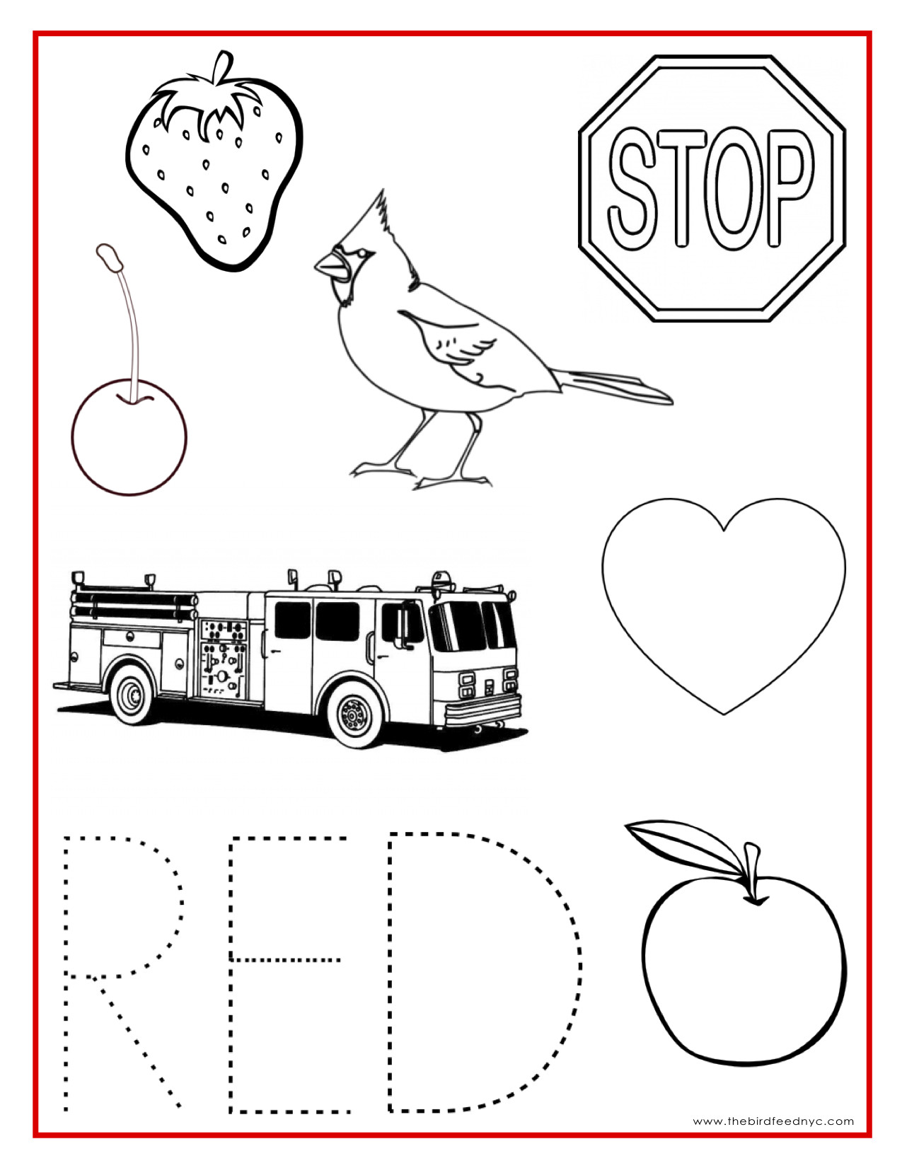 Best ideas about Red Coloring Pages For Kids . Save or Pin Red Coloring Pages Printable Coloring Home Now.