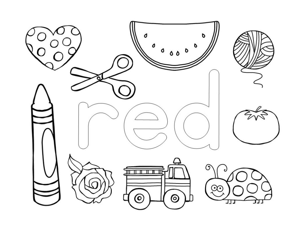 Best ideas about Red Coloring Pages For Kids . Save or Pin Preschool Color Activities Fun Games for Teaching Colors Now.