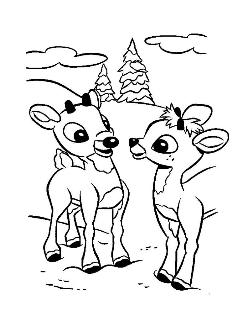 Best ideas about Red Coloring Pages For Kids . Save or Pin Free Printable Rudolph Coloring Pages For Kids Now.