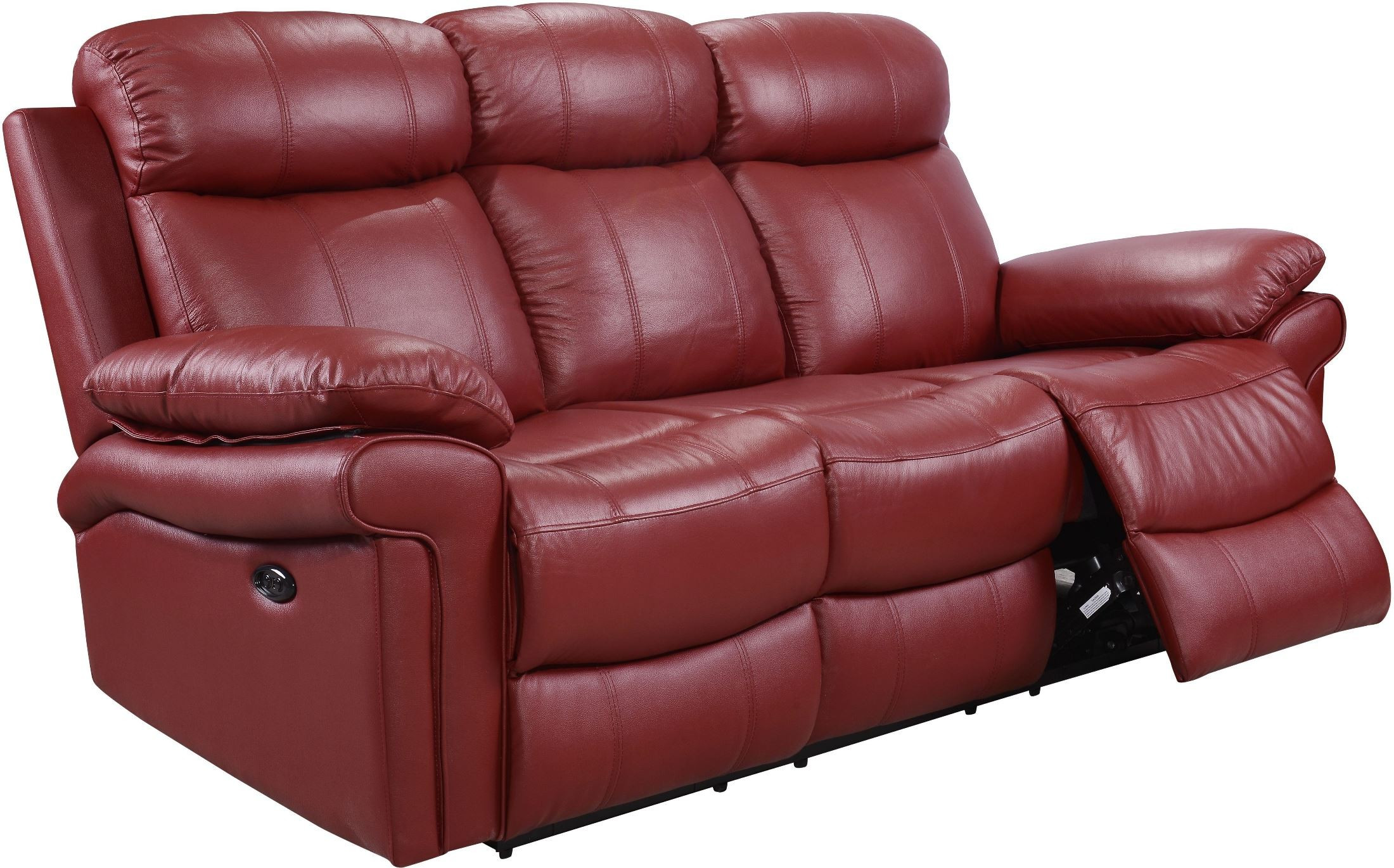Best ideas about Red Recliner Sofa . Save or Pin Shae Joplin Red Leather Power Reclining Sofa from Luxe Now.