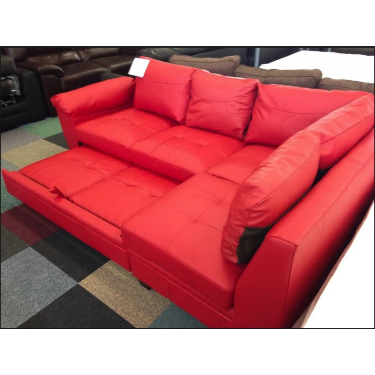 Best ideas about Red Sofa Beds . Save or Pin Red Leather Sofa Bed Uk Now.
