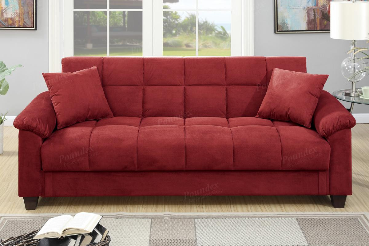 Best ideas about Red Sofa Beds . Save or Pin Red Fabric Sofa Bed Steal A Sofa Furniture Outlet Los Now.