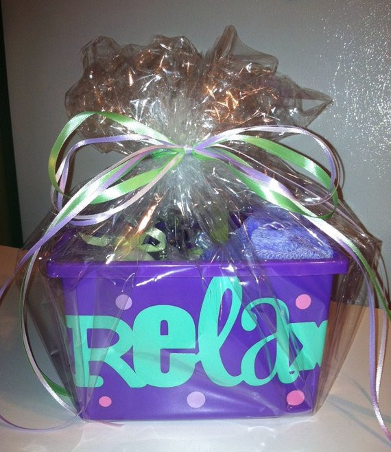 Best ideas about Relaxation Gift Ideas . Save or Pin SALE Relax Gift Basket Now.