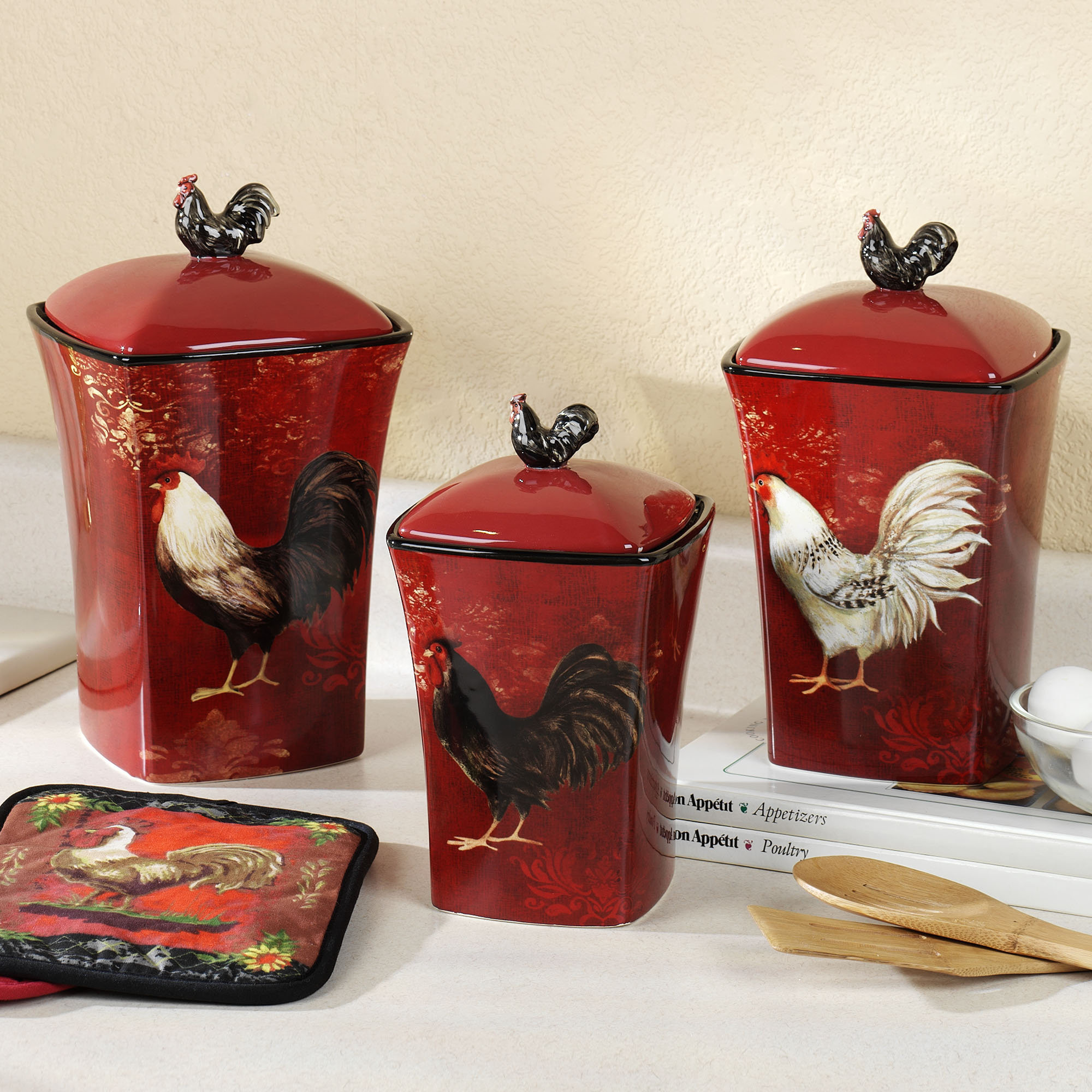 Best ideas about Rooster Kitchen Decor . Save or Pin Cheap Rooster Kitchen Decor Now.