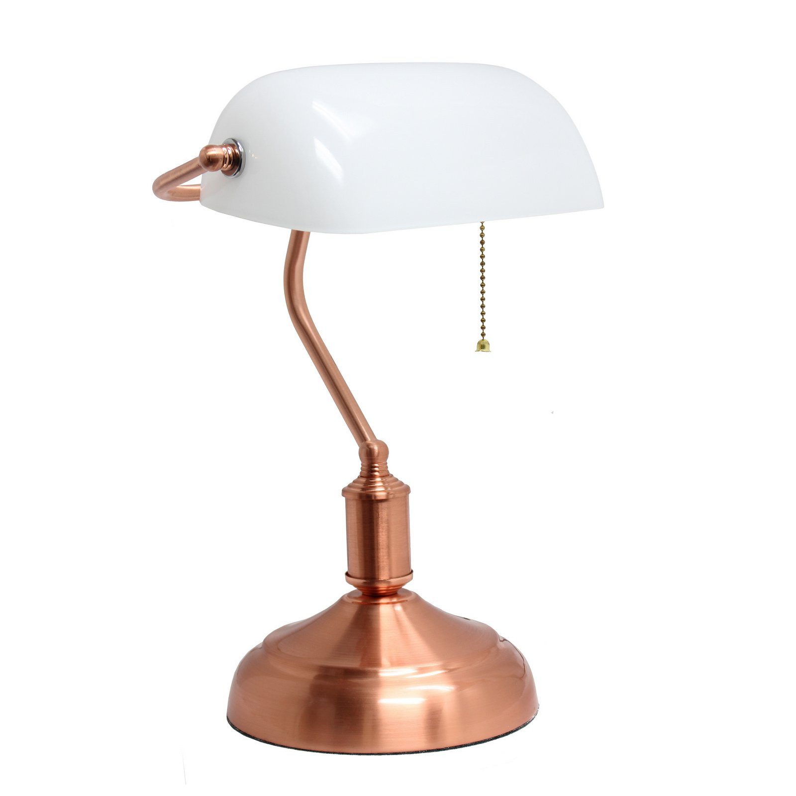 Best ideas about Rose Gold Desk Lamp . Save or Pin Simple Designs Executive Banker s Desk Lamp with White Now.