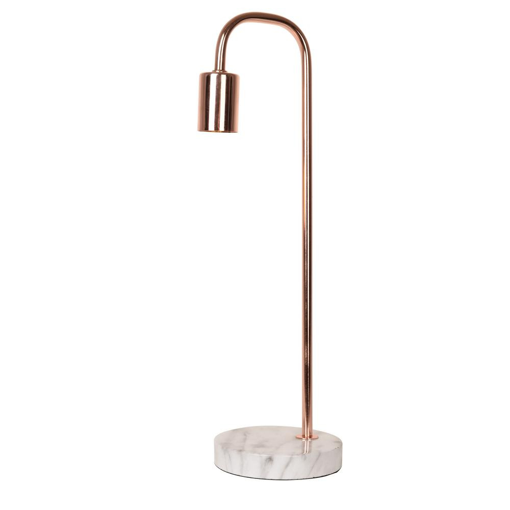 Best ideas about Rose Gold Desk Lamp . Save or Pin Catalina Lighting 19 in Rose Gold Table Lamp with Faux Now.
