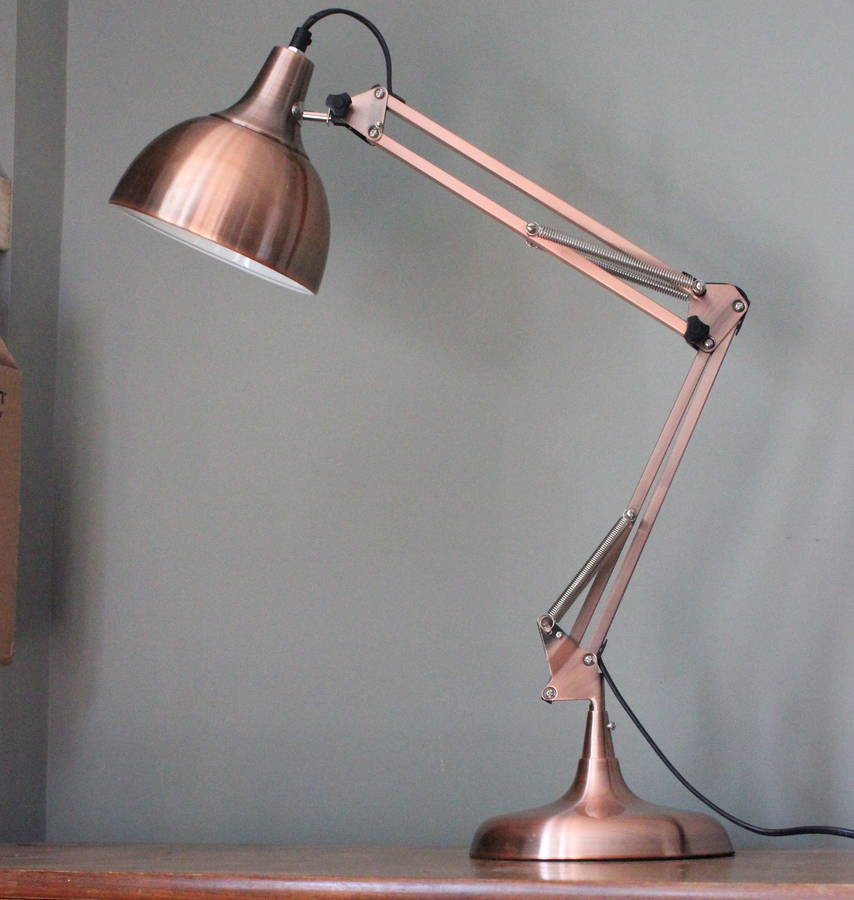 Best ideas about Rose Gold Desk Lamp . Save or Pin copper angled table lamp by the forest & co Now.
