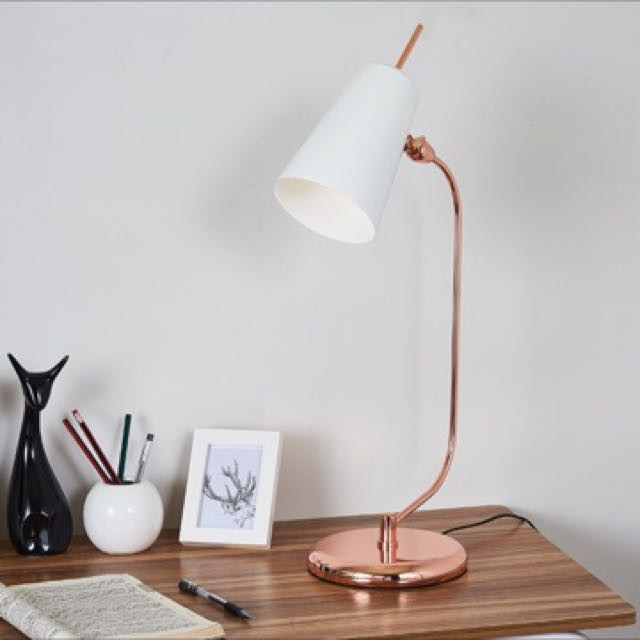 Best ideas about Rose Gold Desk Lamp . Save or Pin Luxe Rose Gold Natural Marble Desk Study fice Table Lamp Now.
