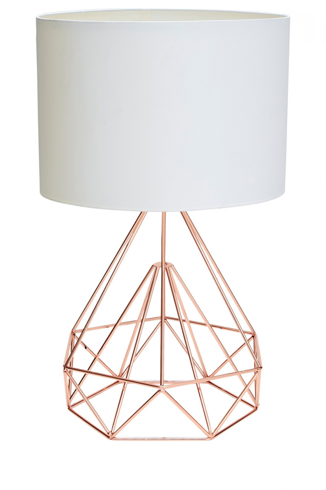 Best ideas about Rose Gold Desk Lamp . Save or Pin Salt Pepper Chicago Cm Rose Gold Wire Table Lamp W White Now.