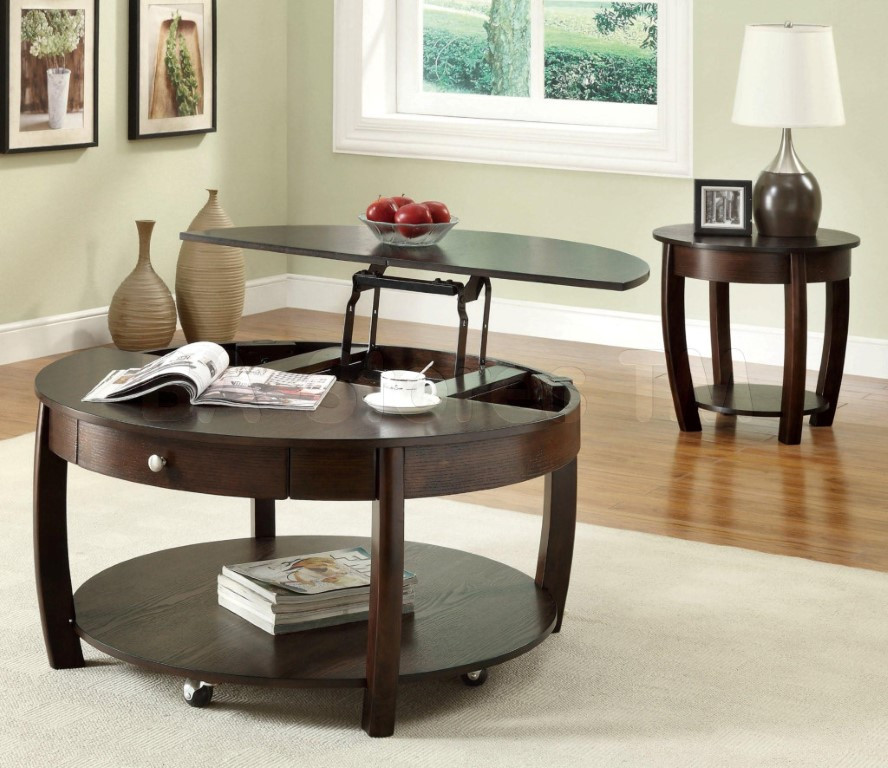 Best ideas about Round Lift Top Coffee Table . Save or Pin Round Lift Top Modern Coffee Tables Now.