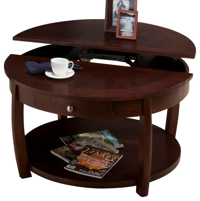 Best ideas about Round Lift Top Coffee Table . Save or Pin Jofran 436 2 Riverside Round Lift Top Cocktail Table with Now.