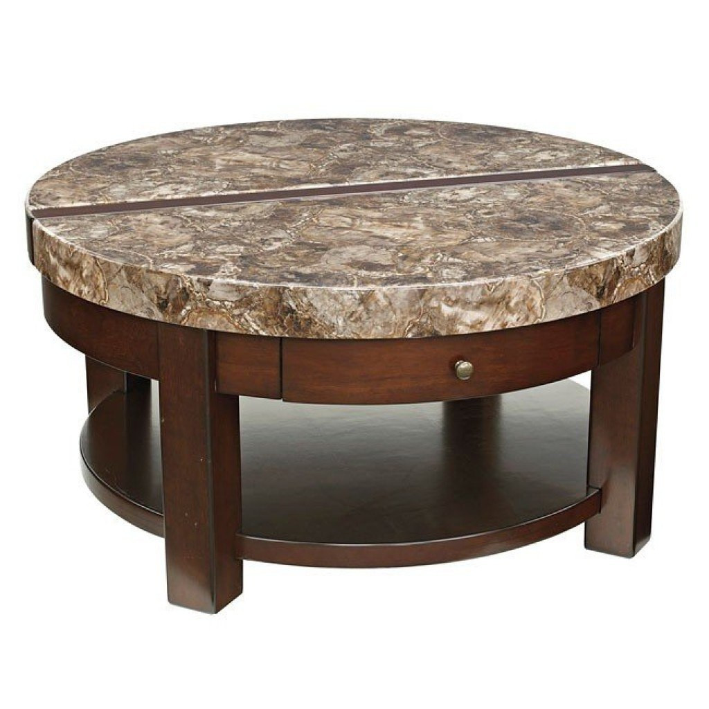 Best ideas about Round Lift Top Coffee Table . Save or Pin Kraleene Round Lift Top Cocktail Table Signature Design 1 Now.