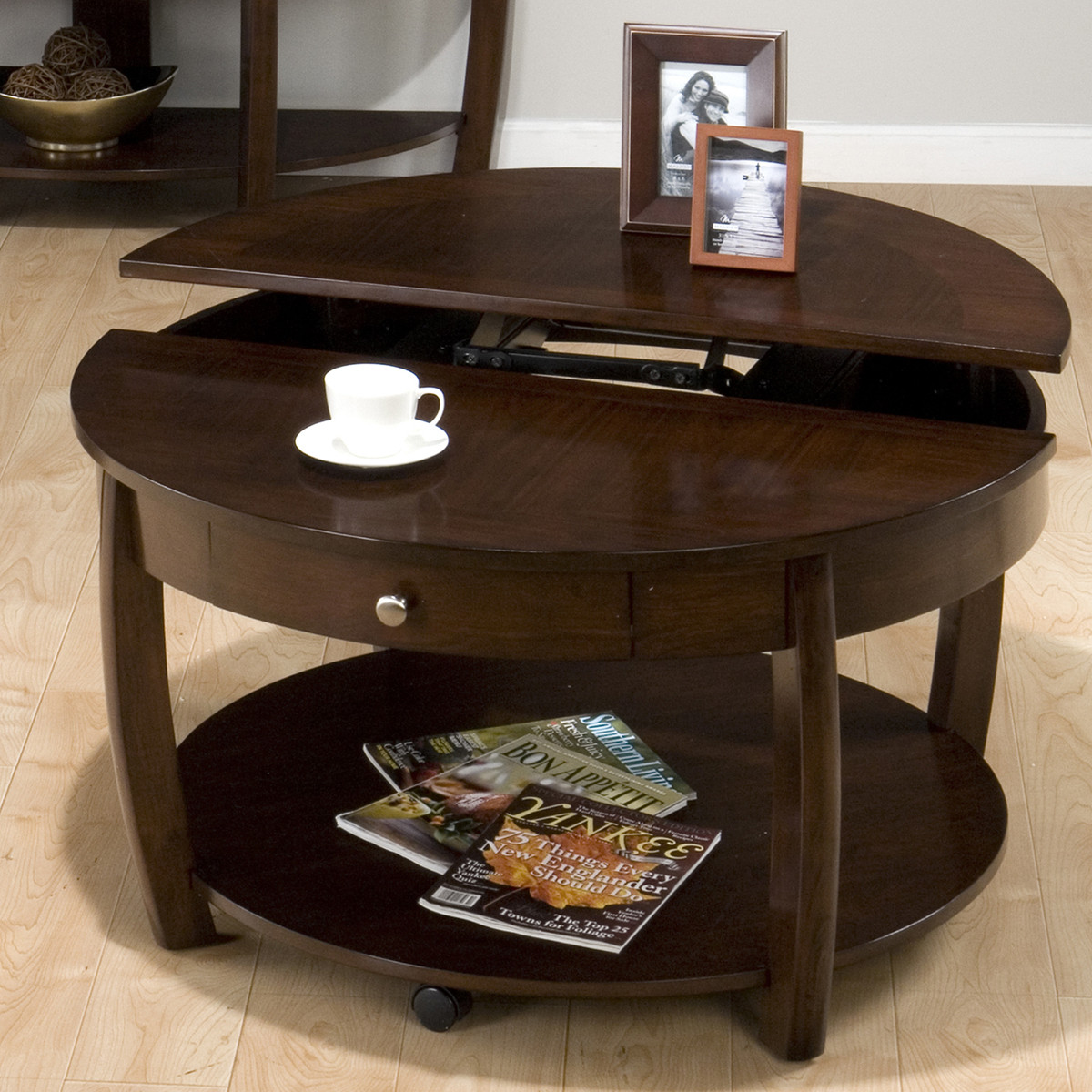Best ideas about Round Lift Top Coffee Table . Save or Pin Round Lift Top Coffee Table Now.