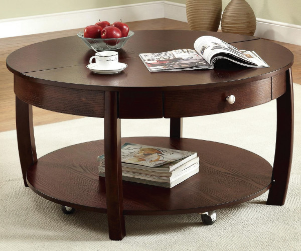 Best ideas about Round Lift Top Coffee Table . Save or Pin Dining room chairs with wheels country industrial kitchen Now.