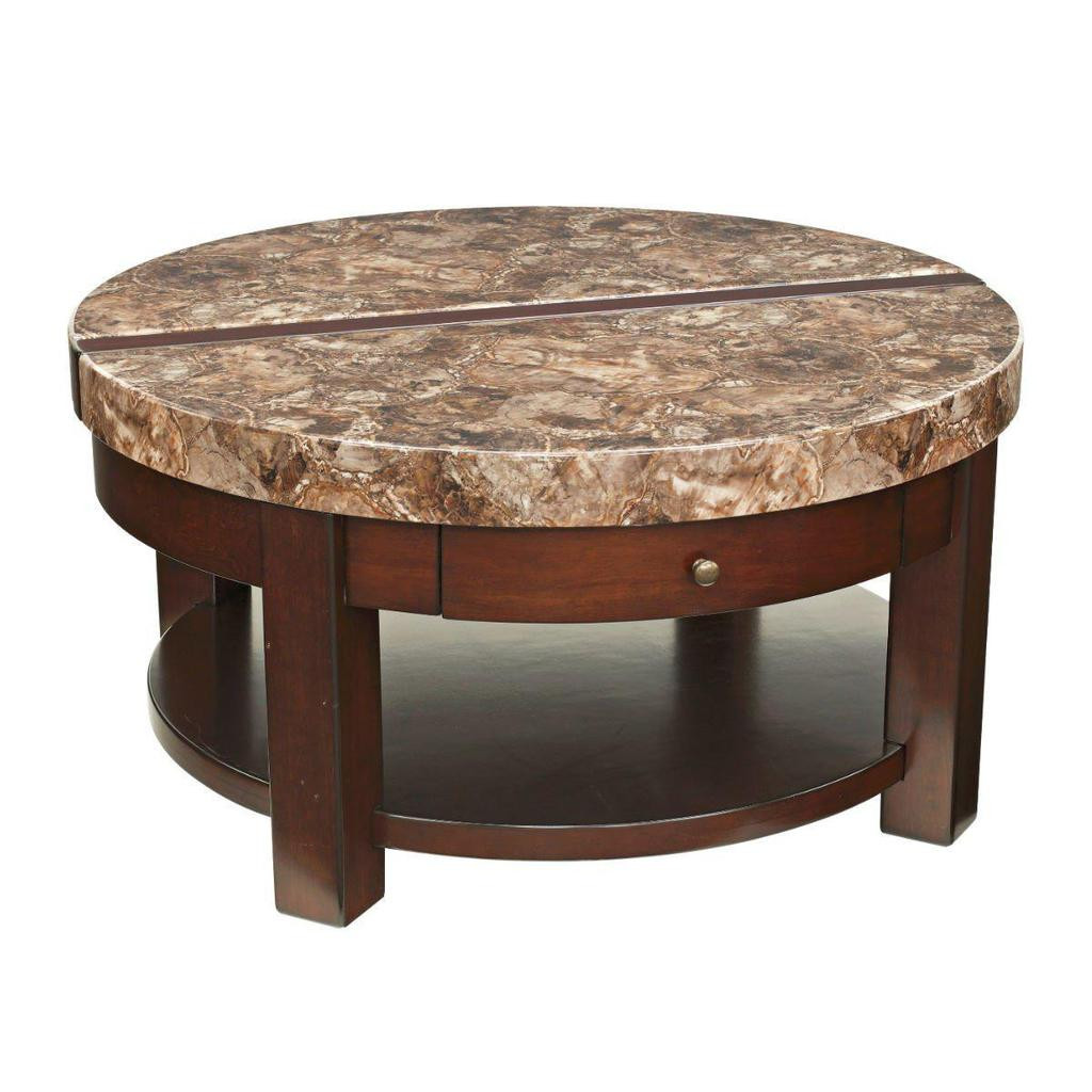 Best ideas about Round Lift Top Coffee Table . Save or Pin Kraleene Round Lift Top Coffee Table – Jennifer Furniture Now.