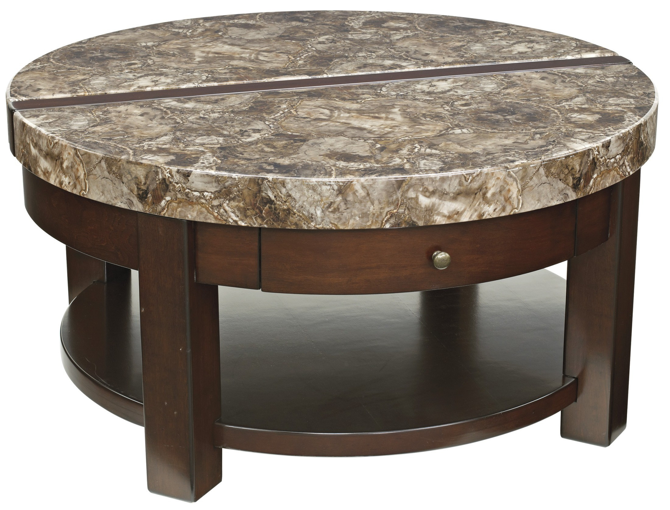 Best ideas about Round Lift Top Coffee Table . Save or Pin Kraleene Round Lift Top Cocktail Table from Ashley T687 8 Now.