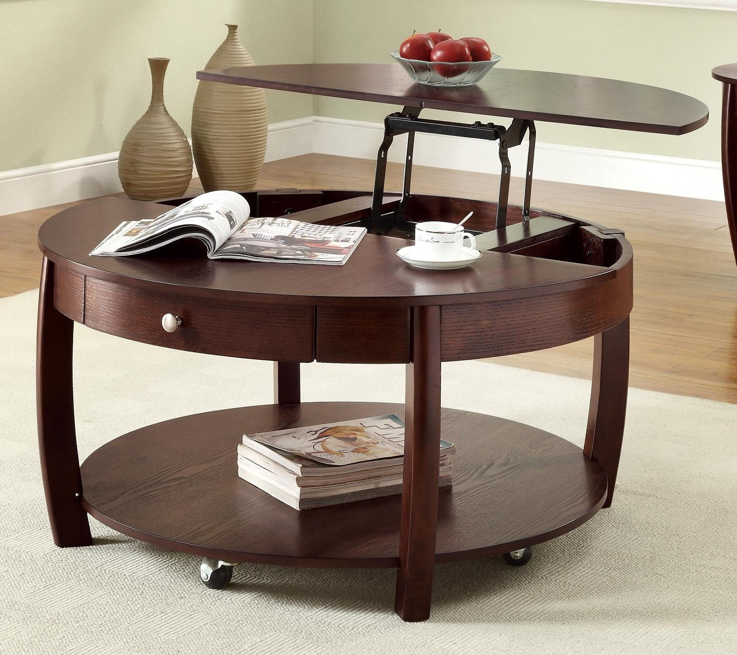 Best ideas about Round Lift Top Coffee Table . Save or Pin Lift Top Coffee Table Ideas and Designs Now.