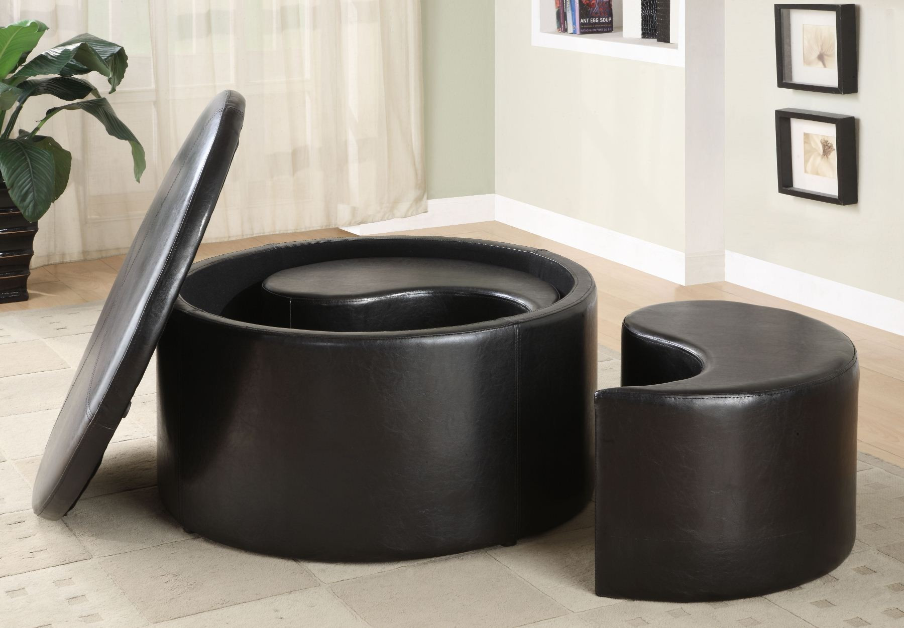 Best ideas about Round Storage Coffee Table . Save or Pin Houston Round Storage Cocktail Table with 2 Kidney Now.