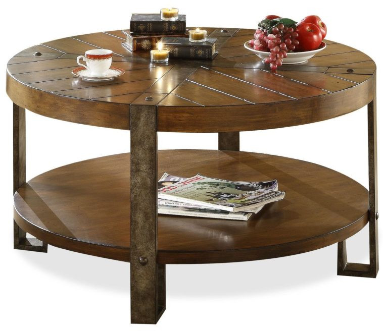 Best ideas about Round Storage Coffee Table . Save or Pin Living Room Brown Wooden Round Coffee Tables With Storage Now.
