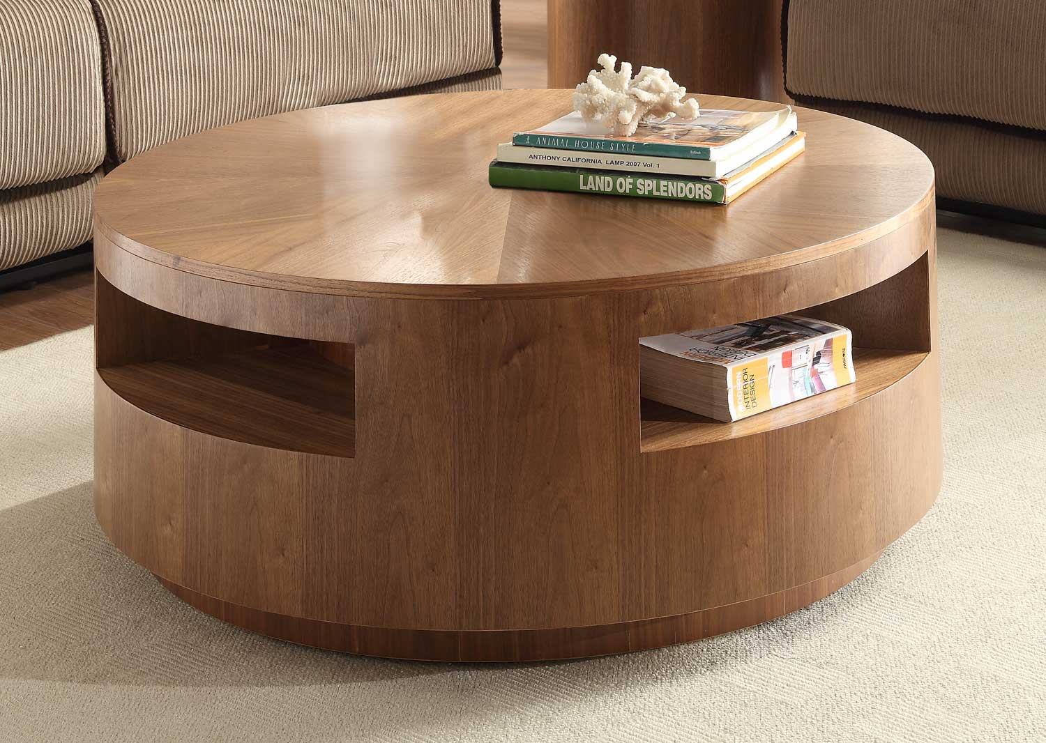 Best ideas about Round Storage Coffee Table . Save or Pin Round Coffee Tables for Your Cozy Seating Area Traba Homes Now.