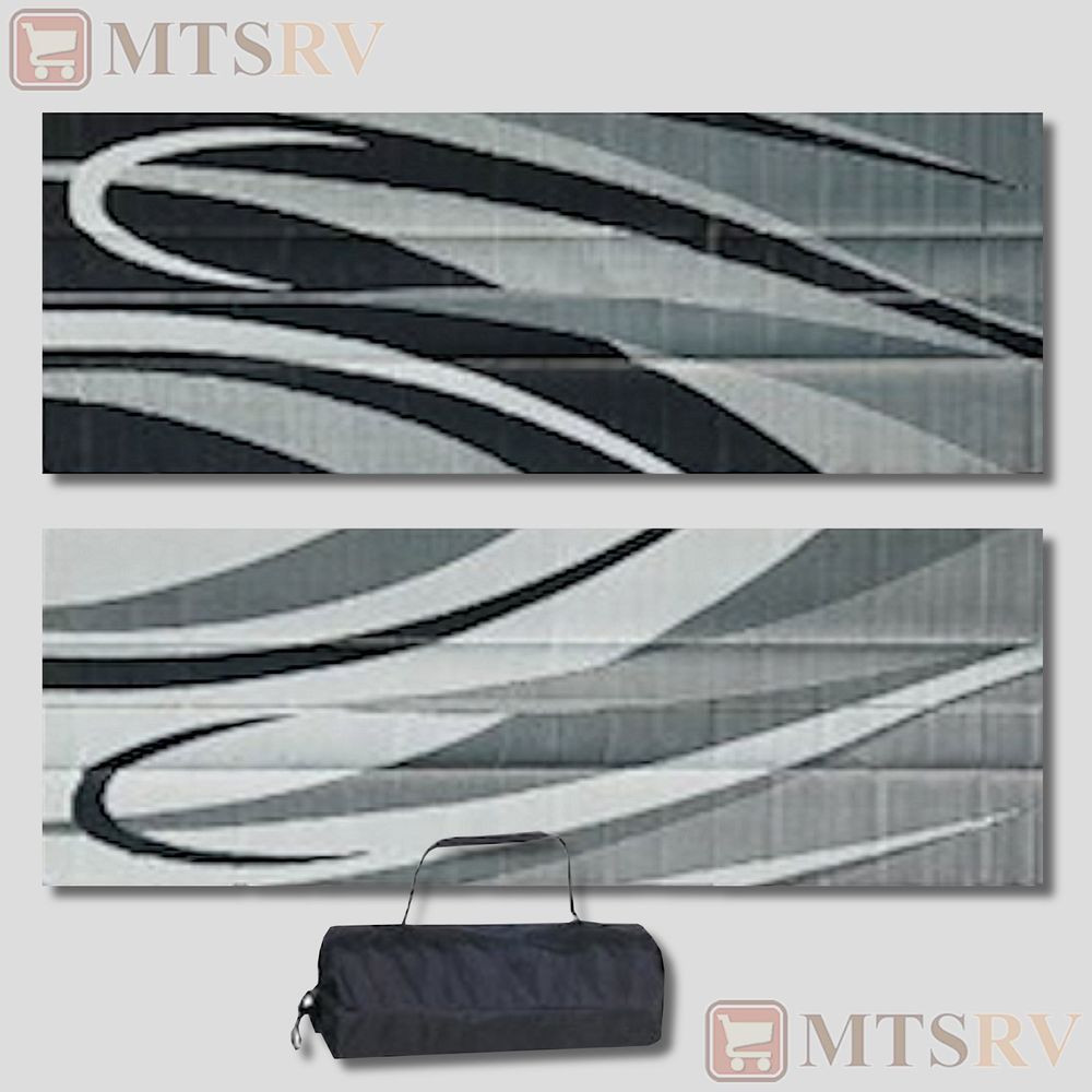 Best ideas about Rv Patio Mat 8X20 . Save or Pin MMI Reversible Patio Mat 8x20 ft Black Silver Swirl Now.