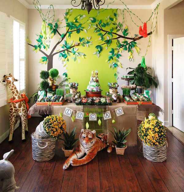Best ideas about Safari Birthday Decorations . Save or Pin Cute Boy 1st Birthday Party Themes Now.