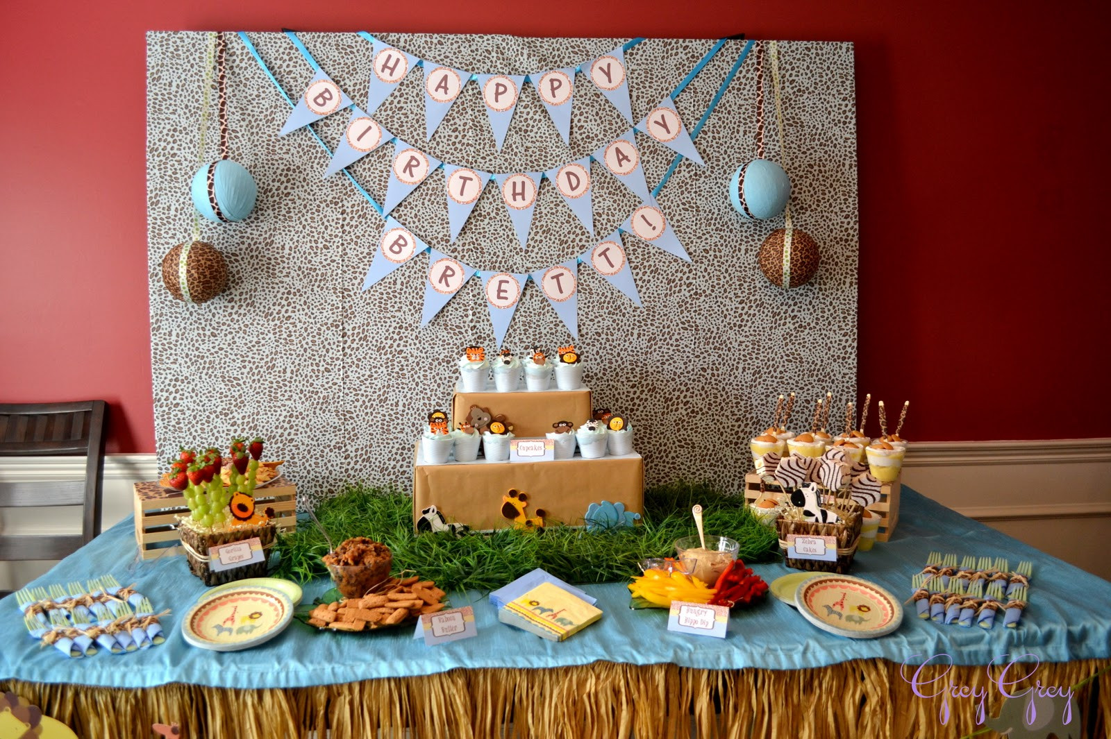 Best ideas about Safari Birthday Decorations . Save or Pin Jungle Safari Birthday Party Now.