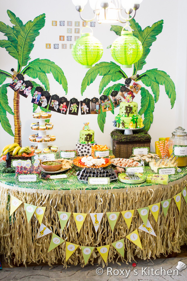 Best ideas about Safari Birthday Decorations . Save or Pin Safari Jungle Themed First Birthday Party Part III – DIY Now.