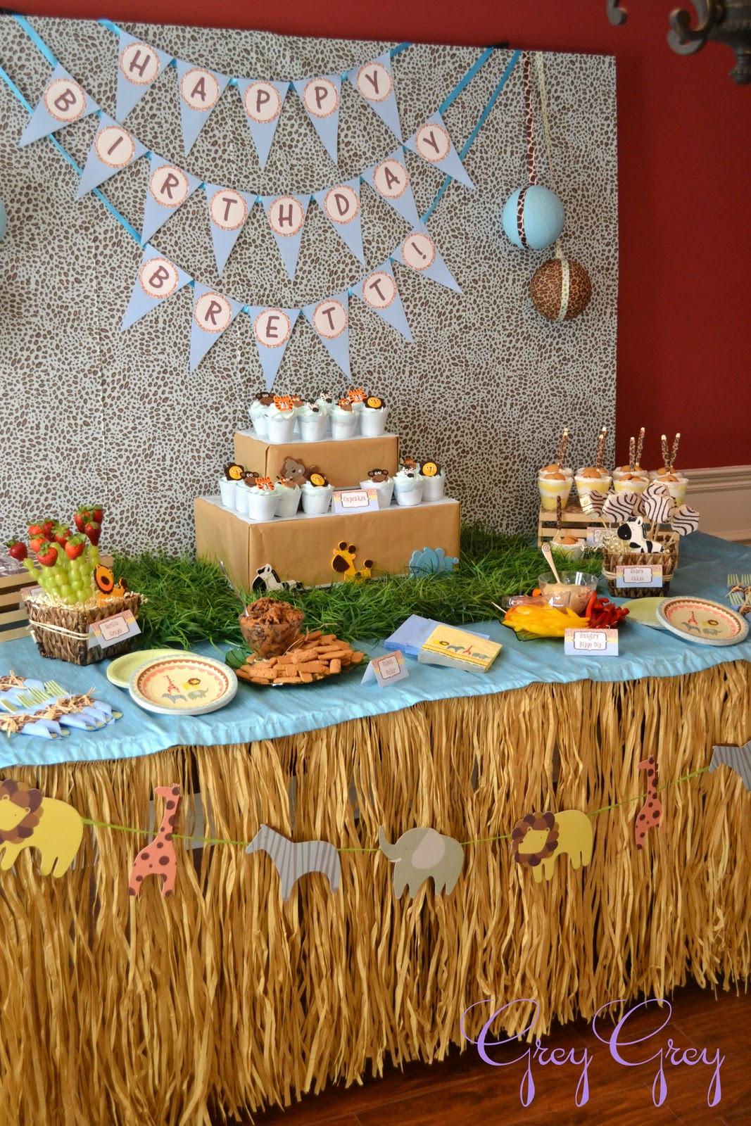 Best ideas about Safari Birthday Decorations . Save or Pin GreyGrey Designs My Parties Brett s Jungle Safari 1st Now.