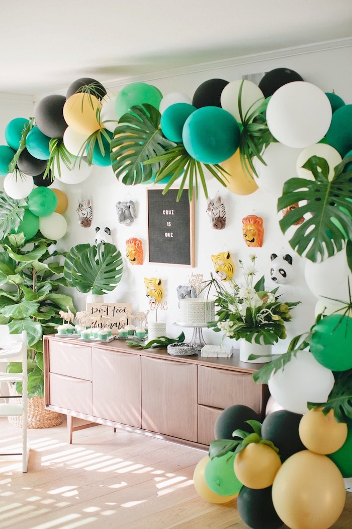 Best ideas about Safari Birthday Decorations . Save or Pin Kara s Party Ideas Jungle 1st Birthday Party Now.