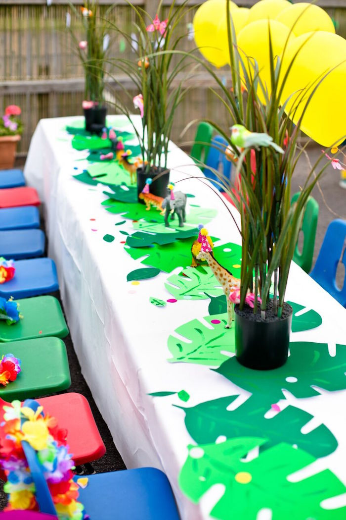 Best ideas about Safari Birthday Decorations . Save or Pin Kara s Party Ideas Tropical Rainforest Jungle Animal Now.