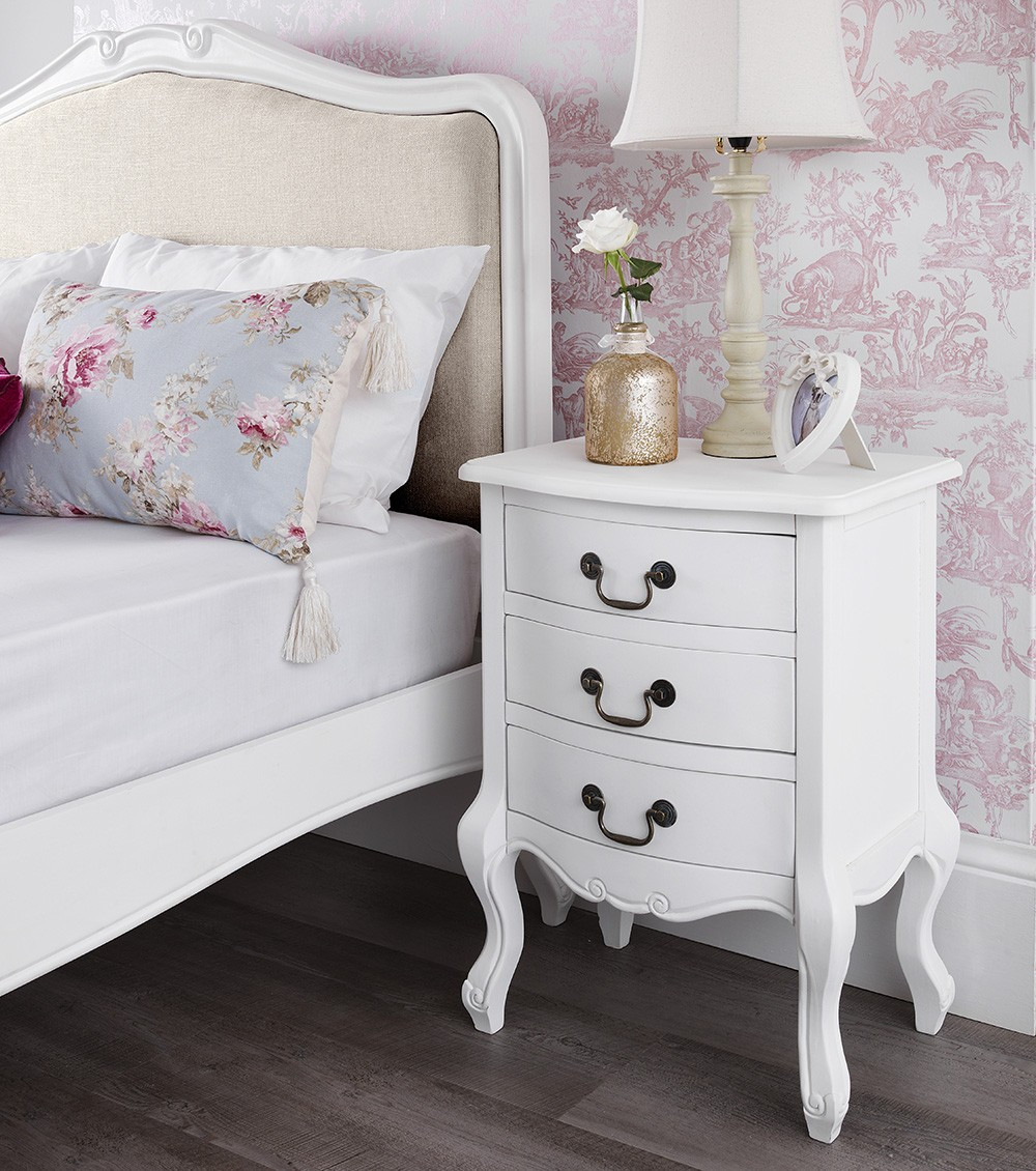Best ideas about Shabby Chic Bedroom Sets . Save or Pin Shabby Chic White Upholstered Double Bed Now.